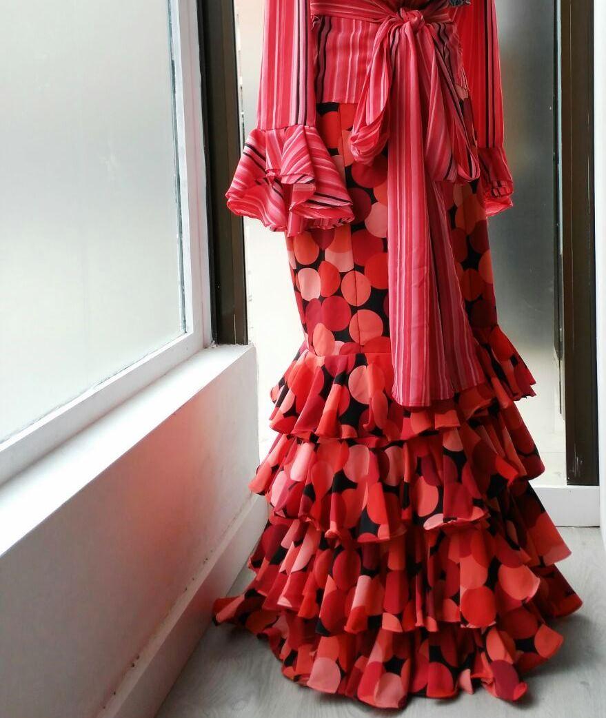 Detalle falda. Colección flamenca África Moreno 2017