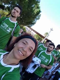 Africa Moreno, participando en la carrera contra el cáncer 2017.